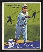 1934 Goudey #6 Jerome (Dizzy) Dean St. Louis Cardinals - Front