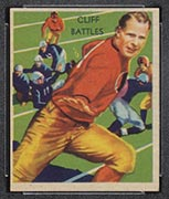 1935 National Chicle #10 Cliff Battles Boston Redskins - Front