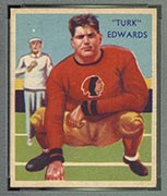 1935 National Chicle #11 Turk Edwards Boston Redskins - Front