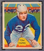 1935 National Chicle #12 Tom Hupke Detroit Lions - Front