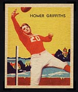 1935 National Chicle #13 Homer Griffiths Chicago Cardinals - Front