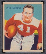 1935 National Chicle #14 Phil Sorboe Chicago Cardinals - Front