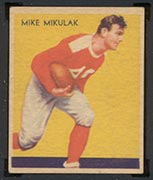1935 National Chicle #18 Mike Mikulak Chicago Cardinals - Front