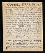 1935 National Chicle #20 Warren Heller Pittsburgh Pirates - Back