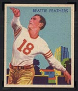 1935 National Chicle #23 Beattie Feathers Chicago Bears - Front
