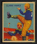 1935 National Chicle #24 Clarke Hinkle Green Bay Packers - Front