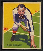 1935 National Chicle #25 Dale Burnett New York Giants - Front