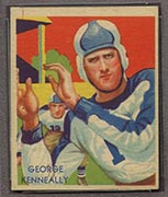 1935 National Chicle #3 George Kenneally Philadelphia Eagles - Front