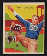 1935 National Chicle #7 Ken Strong New York Giants - Front