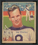 1935 National Chicle #8 Jim Zyntell Philadelphia Eagles - Front