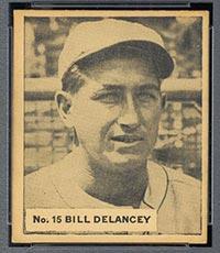 1936 V355 World Wide Gum #15 Bill Delancey St. Louis Cardinals - Front
