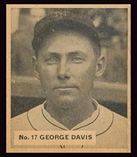"1936 V355 World Wide Gum #17 George ""Kiddo"" Davis New York Giants - Front"