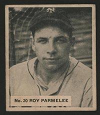 1936 V355 World Wide Gum #20 Roy Parmelee St. Louis Cardinals - Front