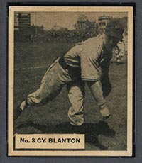 1936 V355 World Wide Gum #3 Cy Blanton Pittsburgh Pirates - Front