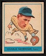 1938 Goudey #241 Charlie Gehringer Detroit Tigers - Front