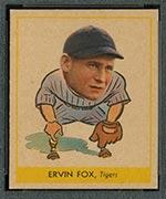 1938 Goudey #242 Ervin Fox Detroit Tigers - Front