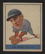 1938 Goudey #243 Joe Kuhel Chicago White Sox - Front