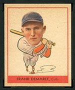 1938 Goudey #244 Frank Demaree Chicago Cubs - Front