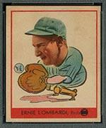 1938 Goudey #246 Ernie Lombardi Cincinnati Reds - Front
