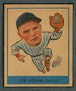 1938 Goudey #247 Joe Vosmik Boston Red Sox - Front