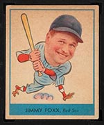 1938 Goudey #249 Jimmy Foxx Boston Red Sox - Front