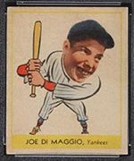 1938 Goudey #250 Joe DiMaggio New York Yankees - Front