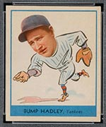 "1938 Goudey #251 ""Bump"" Hadley New York Yankees - Front"