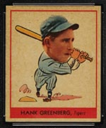 1938 Goudey #253 Hank Greenberg Detroit Tigers - Front