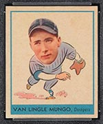 1938 Goudey #254 Van Lingle Mungo Brooklyn Dodgers - Front
