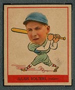 1938 Goudey #255 Julius Solters Cleveland Indians - Front
