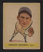 1938 Goudey #256 Vernon Kennedy Detroit Tigers - Front