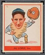 1938 Goudey #257 Al Lopez Boston Bees - Front
