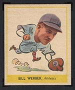 1938 Goudey #259 Bill Werber Philadelphia Athletics - Front
