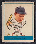 1938 Goudey #260 Rudy York Detroit Tigers - Front