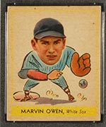 1938 Goudey #263 Marvin Owen Chicago White Sox - Front