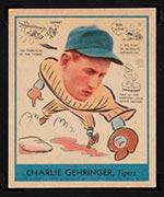 1938 Goudey #265 Charlie Gehringer Detroit Tigers - Front