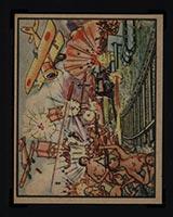 1938 Gum Inc Horrors of War #10 Twenty Naked Chinese Nationalists Charge Foe - Front