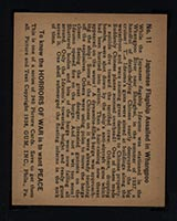 1938 Gum Inc Horrors of War #11 Japanese Flagship Assailed in Whangpoo - Back