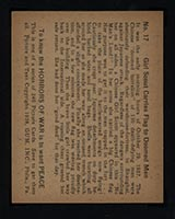 1938 Gum Inc Horrors of War #17 Girl Scout Carries Flag to Doomed Men - Back
