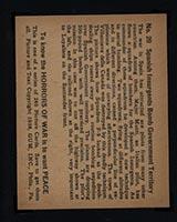 1938 Gum Inc Horrors of War #20 Spanish Insurgents Bomb Government Territory - Back