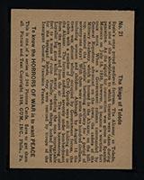 1938 Gum Inc Horrors of War #21 The Siege of Toledo - Back