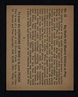 1938 Gum Inc Horrors of War #22 Big Shells Kill Madrid Children at Play - Back