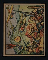 1938 Gum Inc Horrors of War #24 Italian Squadrons Flying Low Slaughter Ethiopians - Front