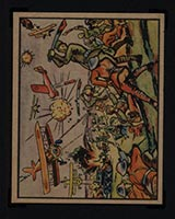 """1938 Gum Inc Horrors of War #2 Chinese """"Big Sword"""" Corps Resists Jap Forces - Front"""
