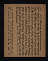 1938 Gum Inc Horrors of War #3 U.S. Marine Shot While Aiding Americans - Back