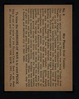 1938 Gum Inc Horrors of War #4 War Planes Over Tientsin - Back