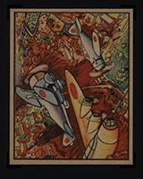1938 Gum Inc Horrors of War #4 War Planes Over Tientsin - Front