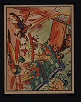 1938 Gum Inc Horrors of War #5 Chinese Pursuers Shoot Down Jap Planes - Front