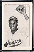 1947 Bond Bread Jackie Robinson Portrait, Glove in Air