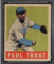 """1948-1949 Leaf #10 Paul """"Dizzy"""" Trout Detroit Tigers - Front"""